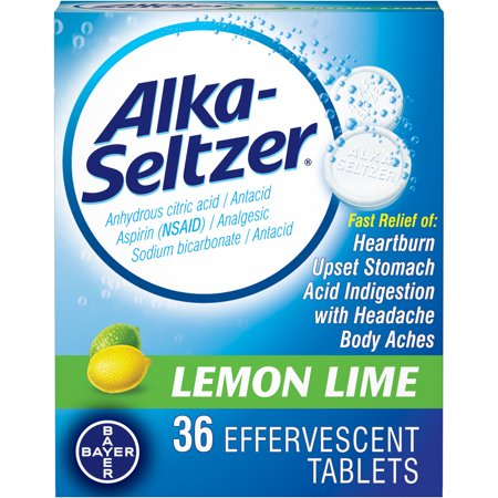 Alka-Seltzer Effervescent Tablets Lemon Lime 36 Tablets by (Best Process Alka Green)
