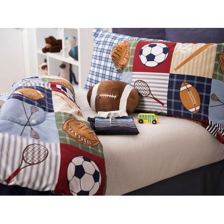 Team Sport Collegiate 4-Piece Comforter Set Full ()