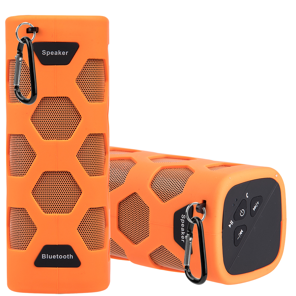 Luxmo for Outdoor Sports Water Resistant Bluetooth Speaker With Dual Speakers, Built-In Mic, Nfc Connection For Iphone Ipad Android Devices - Orange