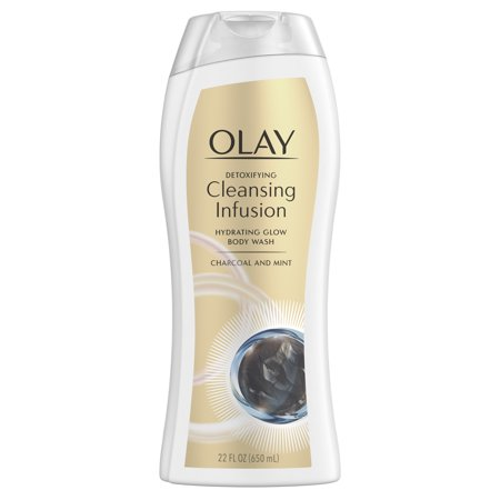 Olay Exfoliating Body Wash - Olay Cleansing Infusion Body Wash, Charcoal + Mint 22oz