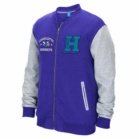 Charlotte Hornets NBA Adidas Purple Adidas Originals Full Zip Classics Letterman  Jacket For Men for $<!---->