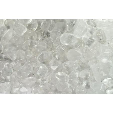 Fantasia Crystal Vault: 1/2 lb Top Grade Crystal Quartz Tumbled Stones - Medium - 1