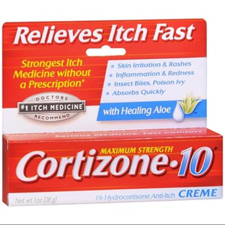 Cortizone-10 Force maximale Anti-Itch Crème Aloe 1 oz (pack de 2)