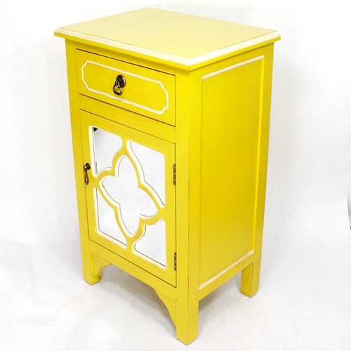 Heather Ann Creations Wooden Accent Cabinet with 1 Drawer and 1 Door
