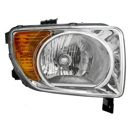 Passengers Headlight Headlamp with Chrome Bezel Replacement for Honda 33101SCVA01, Meets all OE specifications, with DOT stamp By AUTOANDART