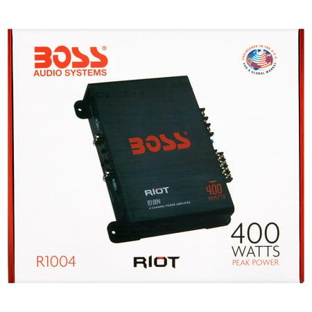 New Boss Audio Riot R1004 400 Watt 4 Channel Car Power Amplifier Amp Mosfet