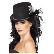 Skeleton Hand Bones Black Top Hat Glitter Gothic Victorian Costume Accessory