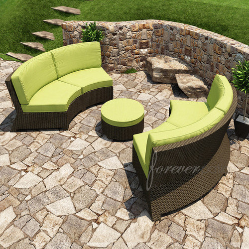 Forever Patio Barbados 3 Piece Sectional Deep Seating Group with Cushion