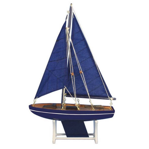 Handcrafted Nautical Decor It Floats Ocean Breeze Model Sailboat by Handcrafted Nautical Decor