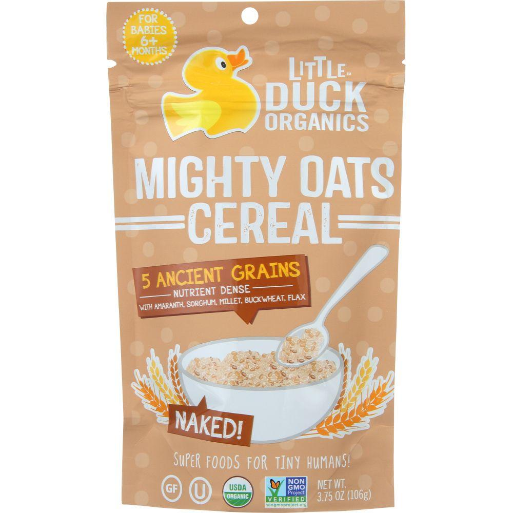Little Duck Organics Cereal, Might Oats, Naked!, For Babies 6+ Months, 3.75 Oz (Pack Of 6)