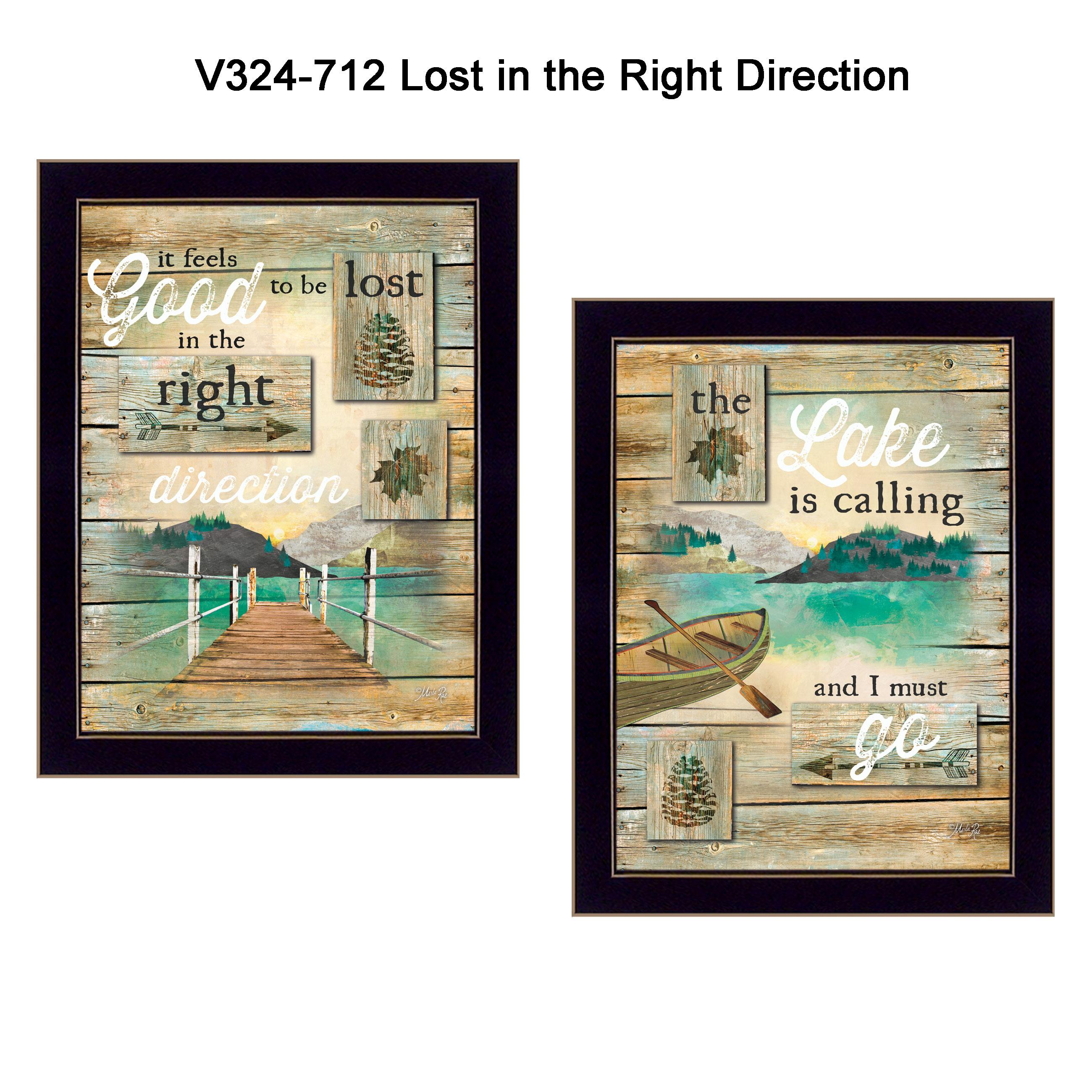"""Lost in the Right Direction"" by Marla Rae Printed Framed Wall Art - image 2 of 2"