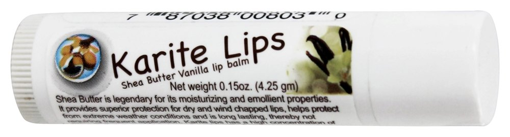 Mode De Vie - Karite Lips Shea Butter Lip Balm Vanilla - 0.15 oz. (pack of 1) CLEANSING Phytoactive Combination - For Combination & Oily Skin-100ml/3.4oz