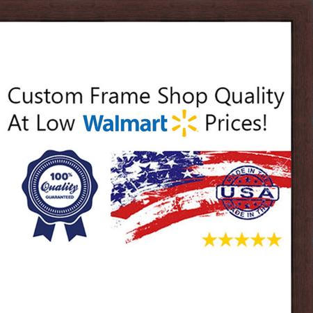 8x10 Dark Walnut Wood - Picture Frames