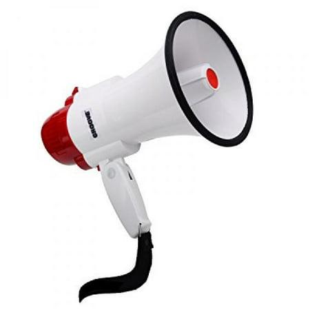 Megaphone Bullhorn With Siren, 30 Watt Powerful and Lightweight