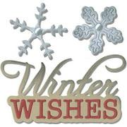 Sizzix JLong Thinlits Die Phrase WWish&Snowflakes