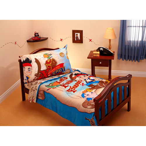 DISCONTINUED - Jake & the Neverland Pirates Treasure Hunt 4-piece Toddler Bedding Set