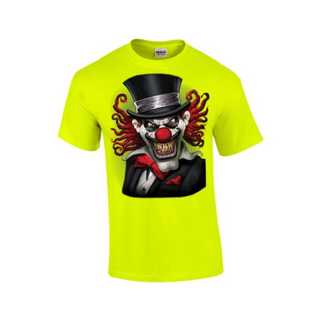 Clown T-Shirt Crazy Clown With A Top Hat (Crazy Hats For Sale)