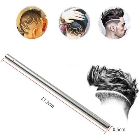 Roofei Hair Razor Pen For Hair Design Stainless Steel Face Shaping Device, Engraved Pen/ 10 Blades/Tweezer Hair Styling Eyebrows Beards Razor Tool - image 7 of 8