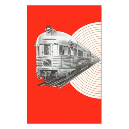 Caboose of Modern Train Print Wall Art