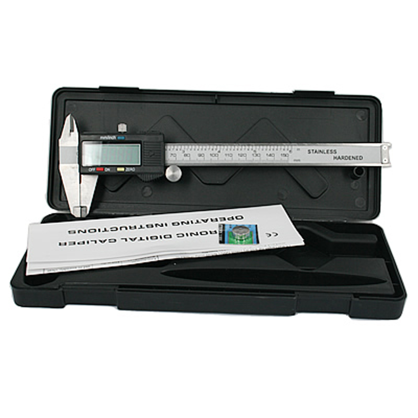HDE Digital Vernier Caliper Measuring Tool Electronic SAE to Metric Conversion with LCD Display (6 in / 150 mm)