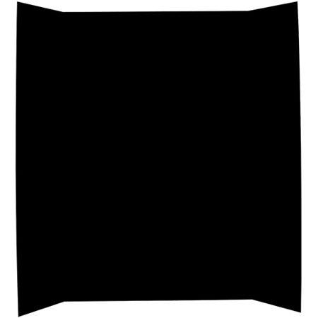 """Elmers Tri-Fold Self-Standing Project Display Board, 36"""" X 48"""", Black"""