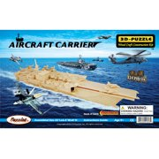 Puzzled Aircraft Carrier Wooden 3D Puzzle