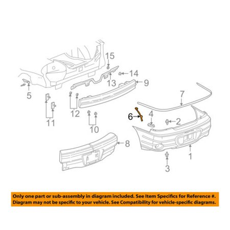 Pontiac GM OEM Grand Am Rear Bumper-Bumper Cover Support Bracket Right 22647896 Pontiac Grand Am Bumper Cover