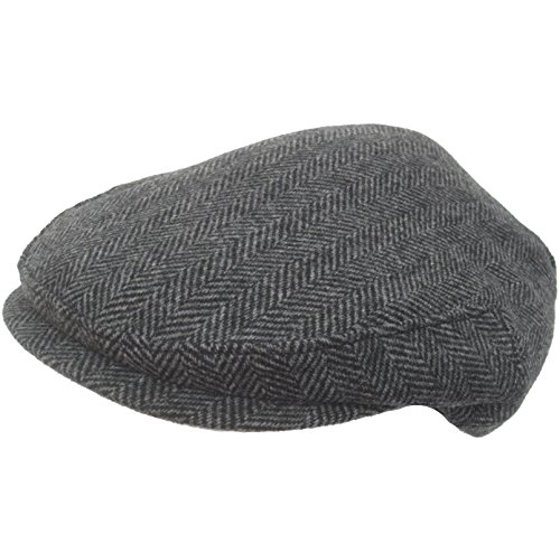 8469c5c74 Headchange USA 100% Wool Ivy Scally Cap Black Herringbone (Large)