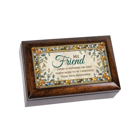 Cottage Garden That's What Friends Are For Music Box Jewelry Box 3x5 Photo