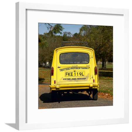 Trotters Reliant Van from Only Fools and Horses tv programme Framed Print Wall (Only Fools And Horses Van For Sale)