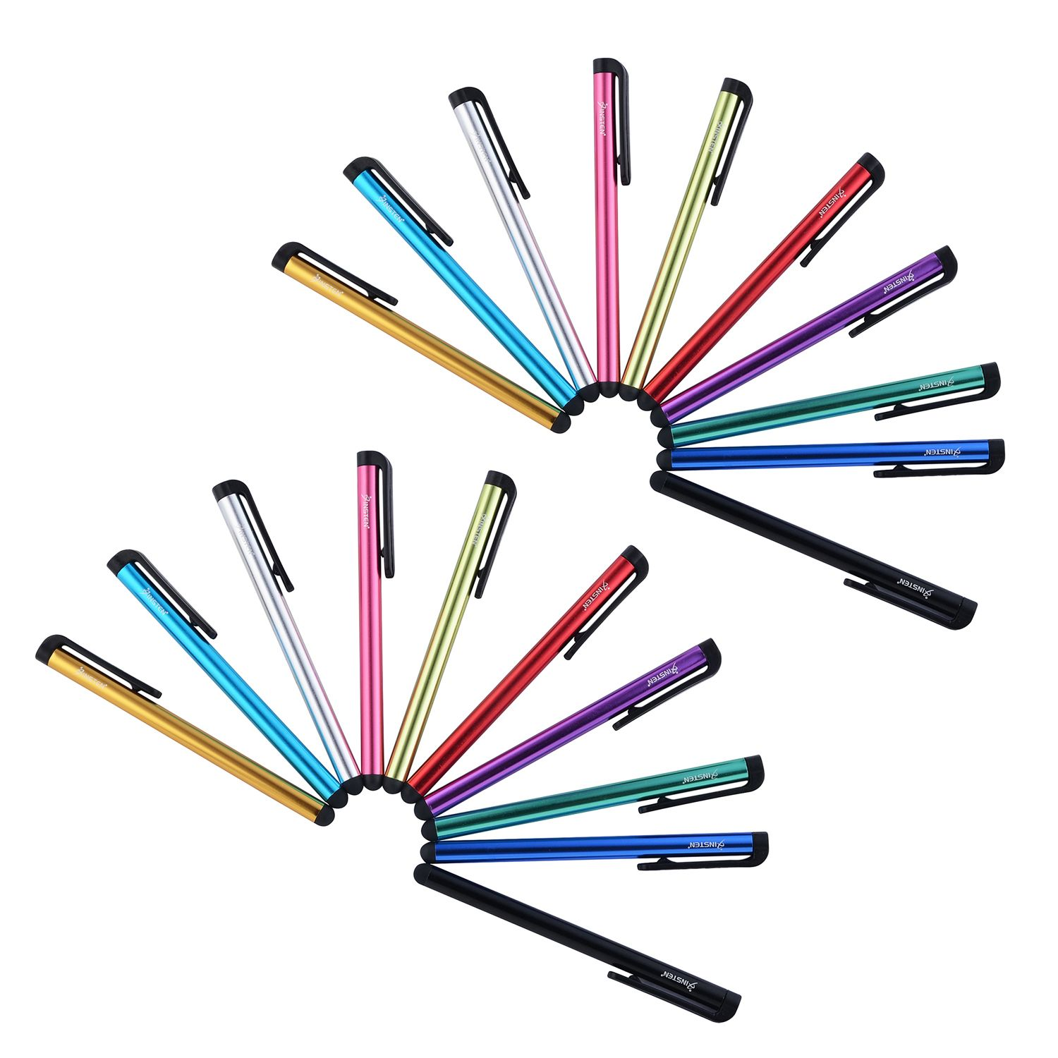 Insten 20pcs Universal Touch Screen Stylus Pen For iPhone 7 8 X XS XS Max iPad Mini Air Pro Samsung Galaxy S9 S8 S7 S6 Edge Tab Pro Tablet LG G Stylo 4 2 K7 G6 Smartphone Touchscreen Device