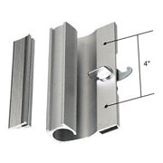 "CRL Right Hand Aluminum Hook-Style Surface Mount Sliding Glass Door Handle 4"" Screw Holes for Premier Doors, Designed for Premier Doors By C.R. Laurence"