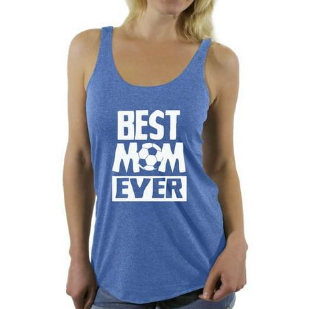 Awkward Styles Women's Best Mom Ever Graphic Racerback Tank Tops Soccer Mom Gift