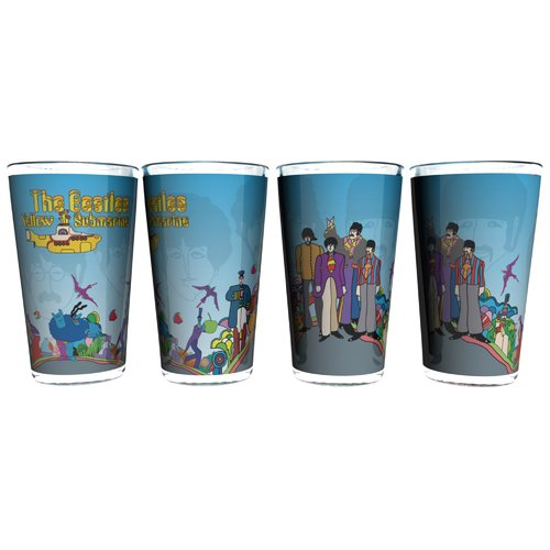 Boelter Brands Beatles Yellow Submarine Sublimated Collectible Pint Glass