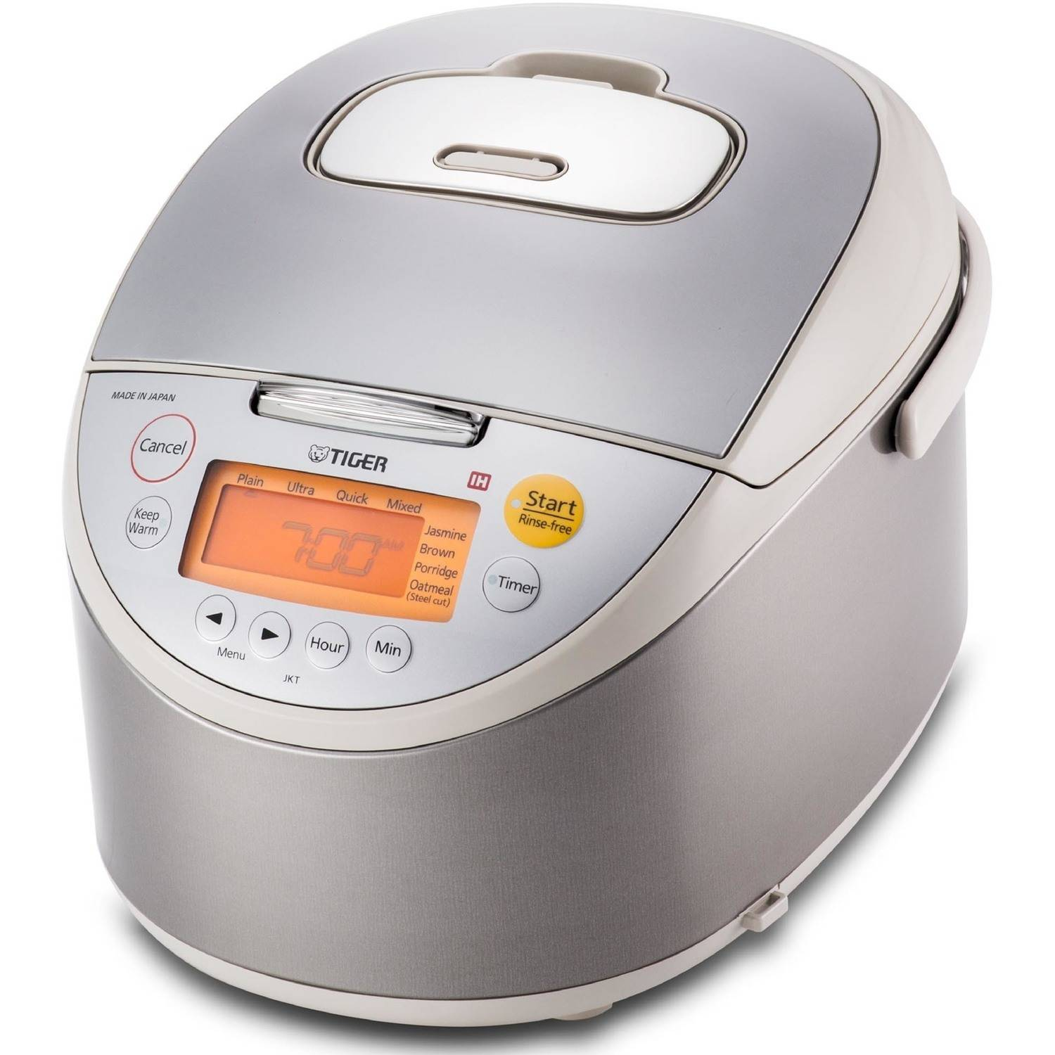 Tiger Induction Heating Rice Cooker, Stainless Steel, 10 Cups