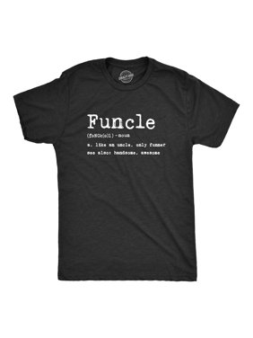 Mens Funcle Definition Tshirt Funny Uncle Family Tee