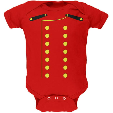 Halloween Hotel Bellhop Costume Red Soft Baby One Piece](Magnolia Hotel Dallas Halloween Party)