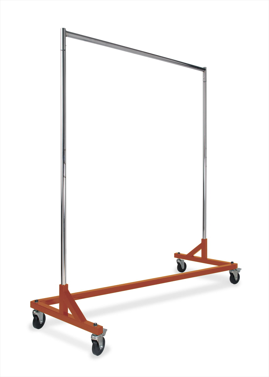 SET OF 3 Commercial Grade Double Bar Rolling Z Rack with Nesting Black Base