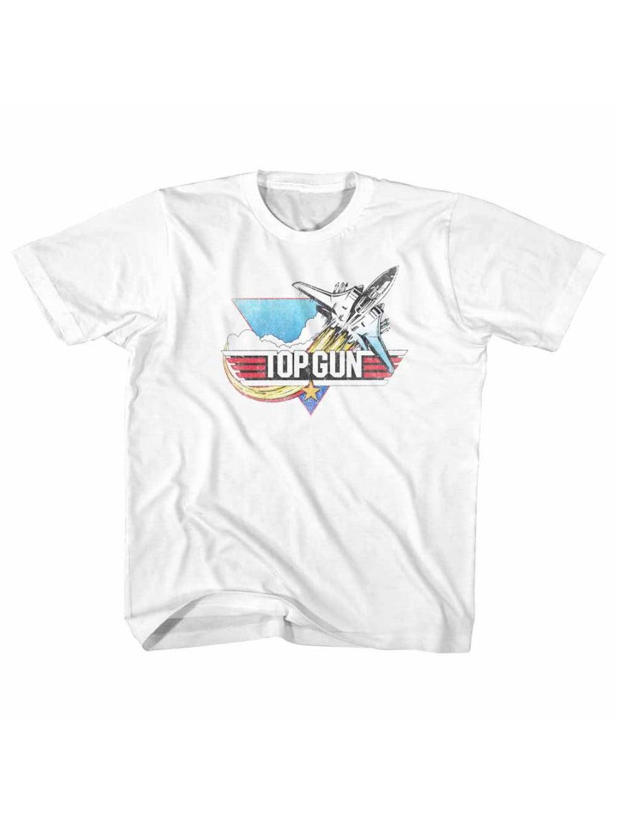Top Gun Fade White Little Boys Toddler -Shirt Tee