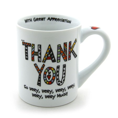 Enesco Our Name is Mud Mug, Cuppa Doodle Thank You