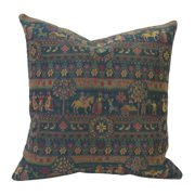 Corona Dcor Corona Decor French Woven Country Design Cotton and Wool Decorative Throw Pillow