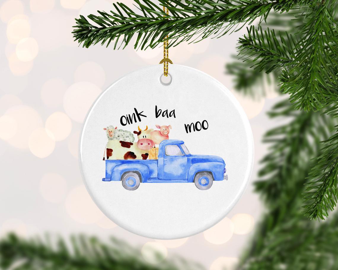 Stocking Stuffer Truck Ornament Christmas Tree Truck Ornament
