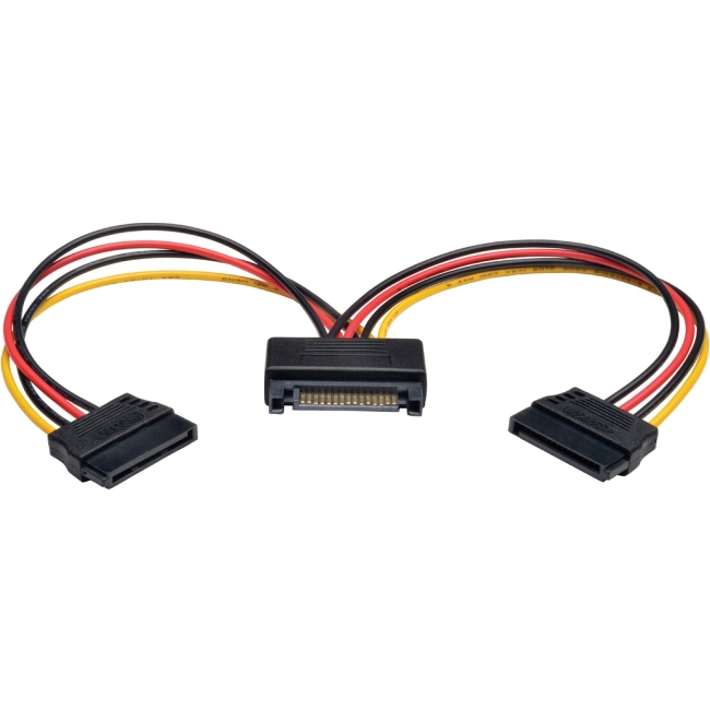 Tripp Lite 6in 15-Pin Serial ATA (SATA) Power Y Splitter Cable Adapter, M/F