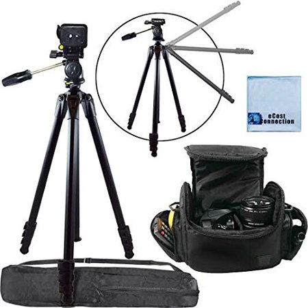 80 Inch Elite Series Professional Heavy Duty Camcorder Tripod Digital Camera Video Padded Carrying Case Large