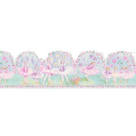 Brewster Pavlova Ballerina Wall - Purple Border