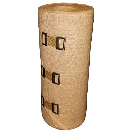 Double Length Premium Elastic Bandage with Clips, 6 x 10 yds.