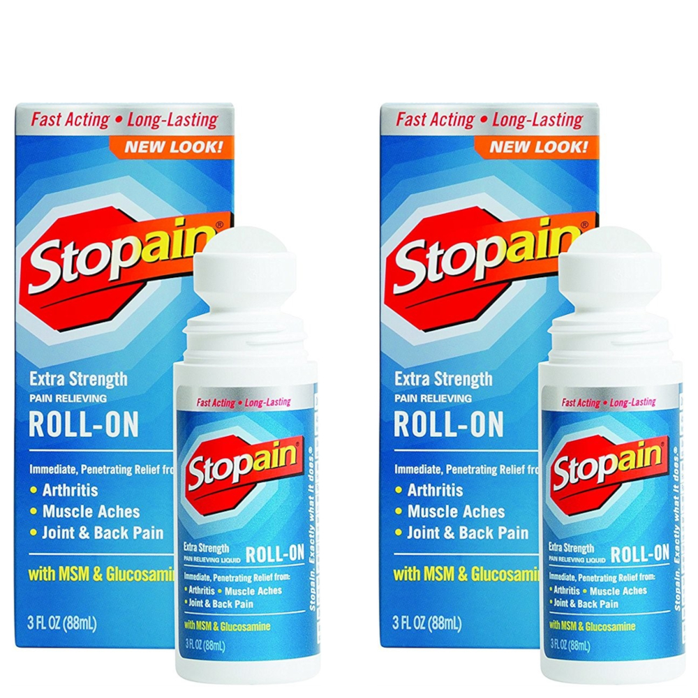 2 Pack - Stopain Extra Strength Pain Relieving Roll-on 3oz Each