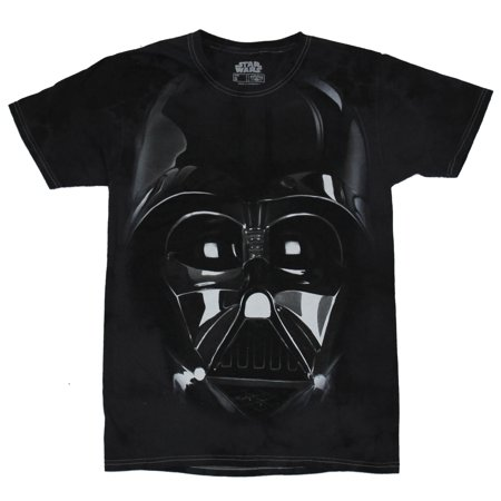 Vader Face - Star Wars Mens T-Shirt - Giant Darth Vader Realistic Face Image