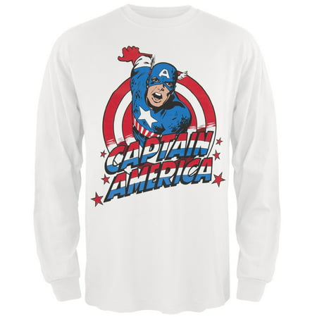 Captain America - Charge Logo Long Sleeve T-Shirt (Captain America Long Sleeve)