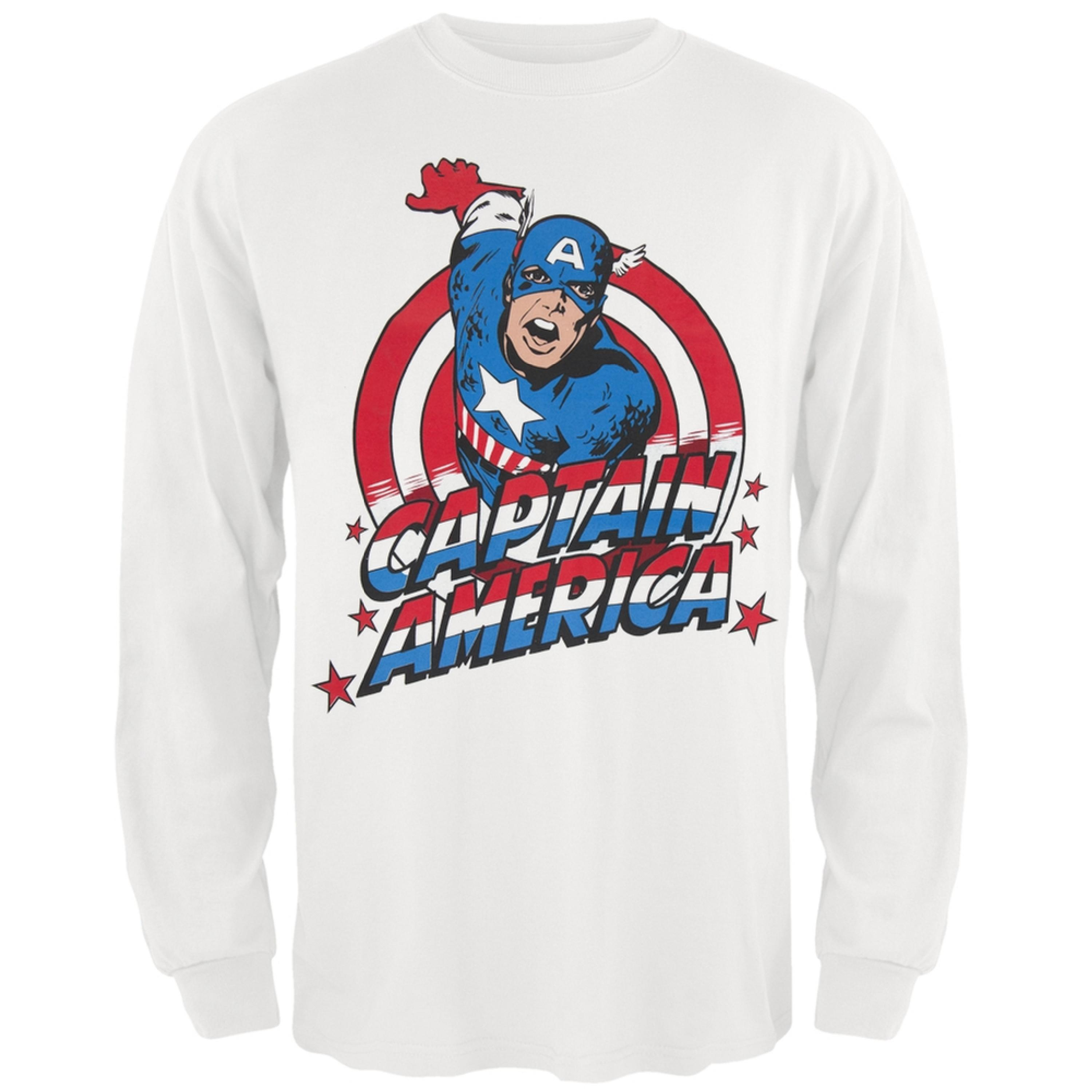 Captain America - Charge Logo Long Sleeve T-Shirt